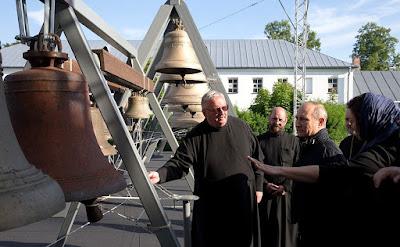 Russian President in Konevsky Monastery.