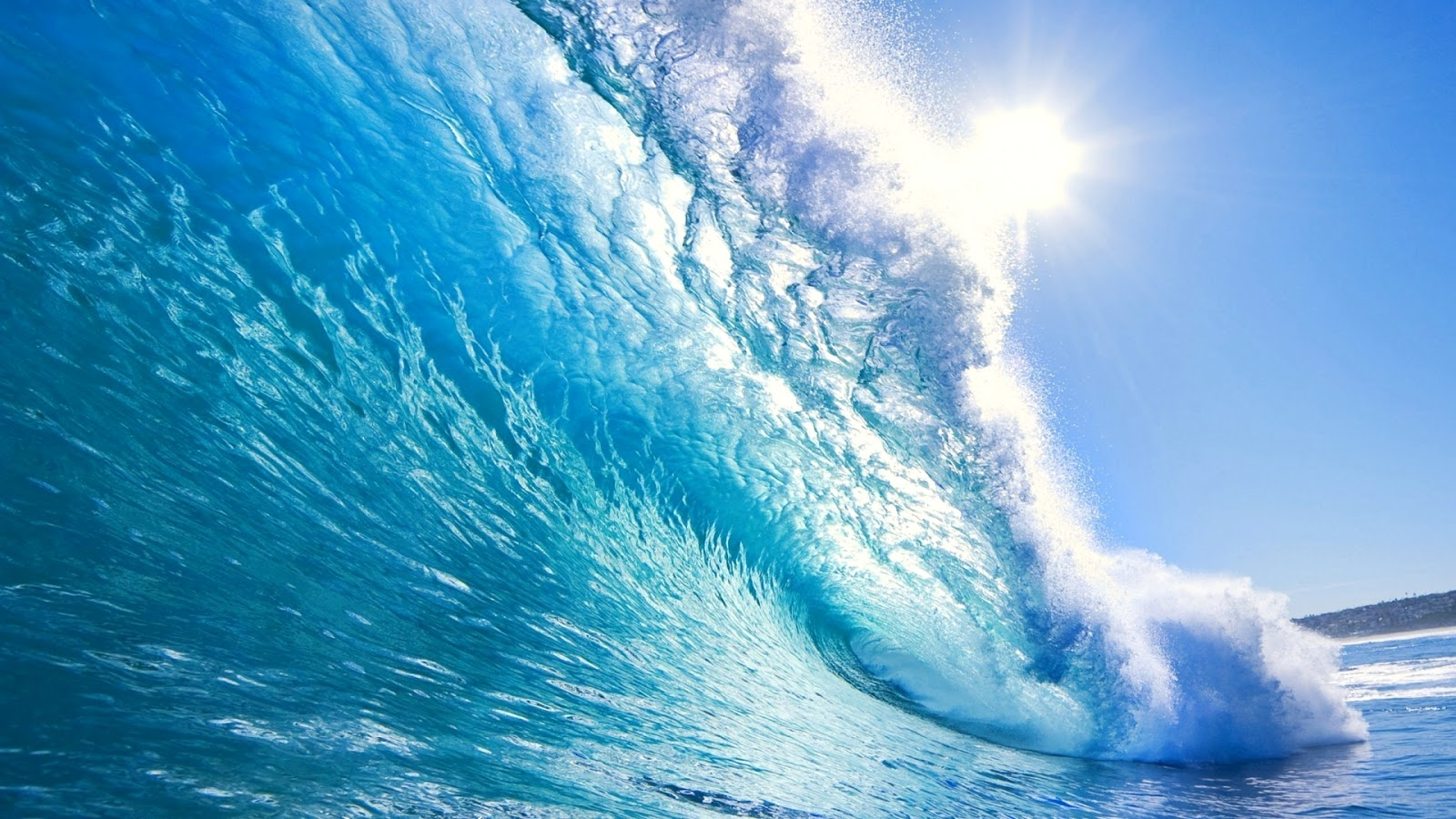 Beautiful Wallpapers: water waves wallpaper