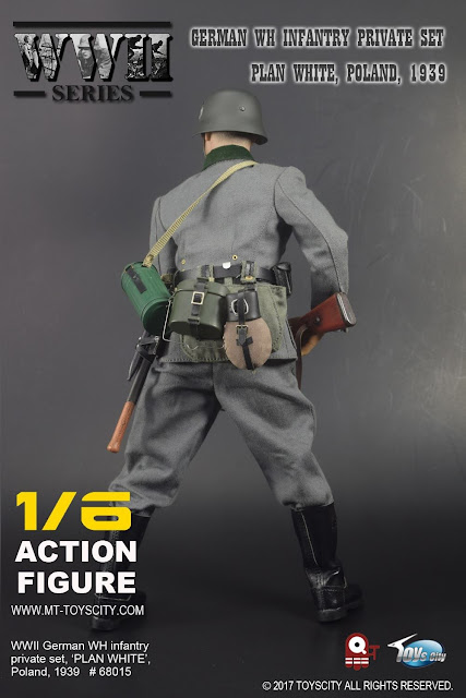 osw.zone Toyscity 1/6. Scale WWII WH Infantry Private Set, Poland 1939 for 12-inch action figure