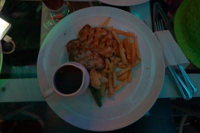 Steak ayam dengan saus jamur