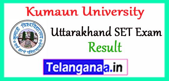 Uttarakhand SET  State Eligibility Test Result 2017 Merit List Answer Key