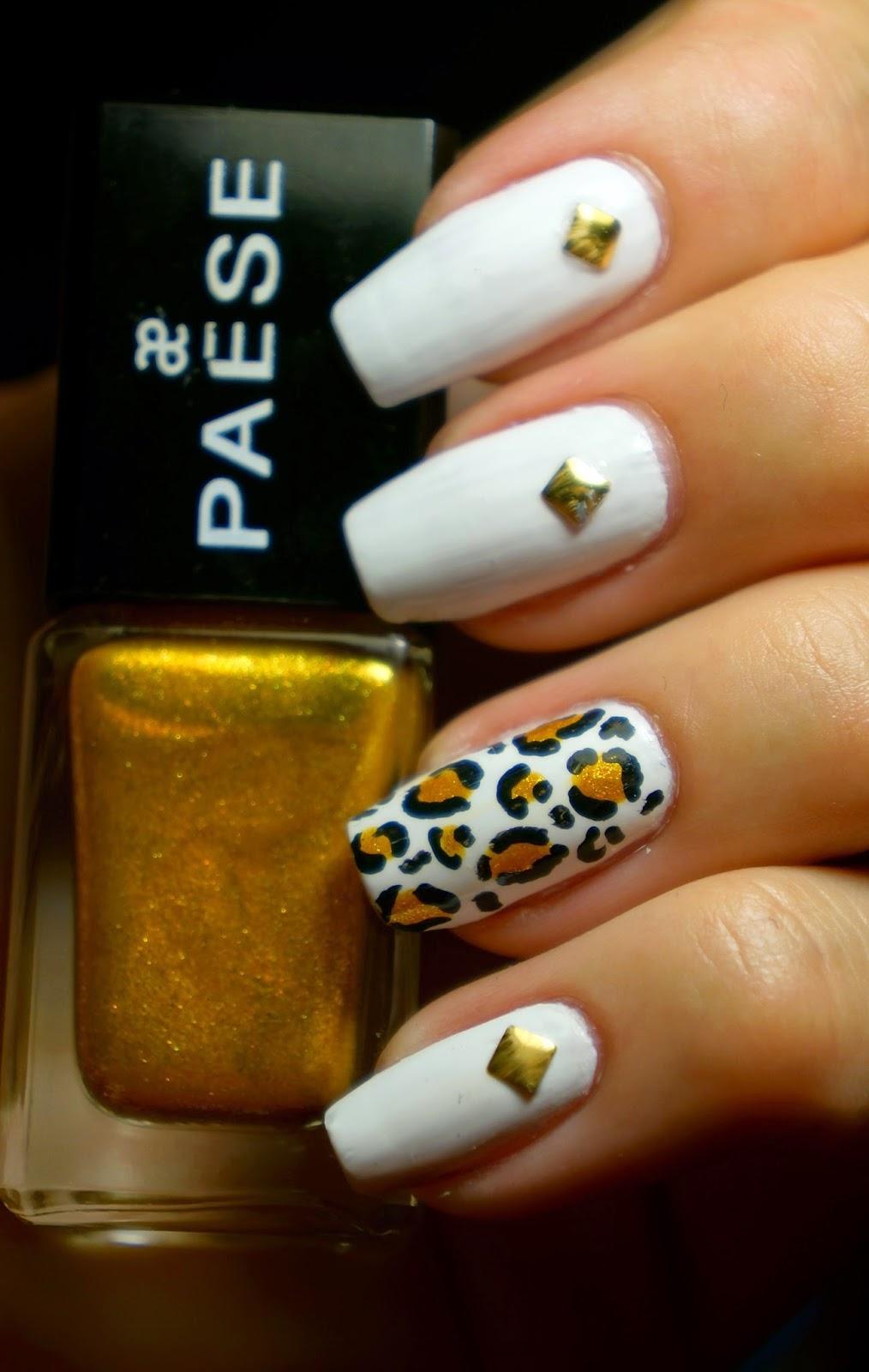 White and gold leopard print, czyli namawiam na panterke po raz enty.