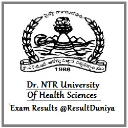 NTR University Medical Exam Results 2016