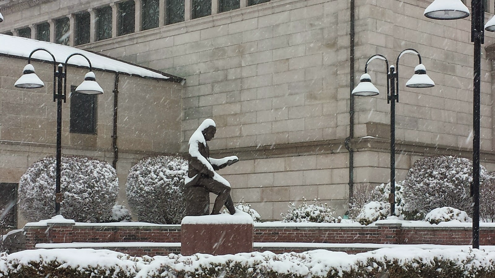 the snow did not keep Ben from reading