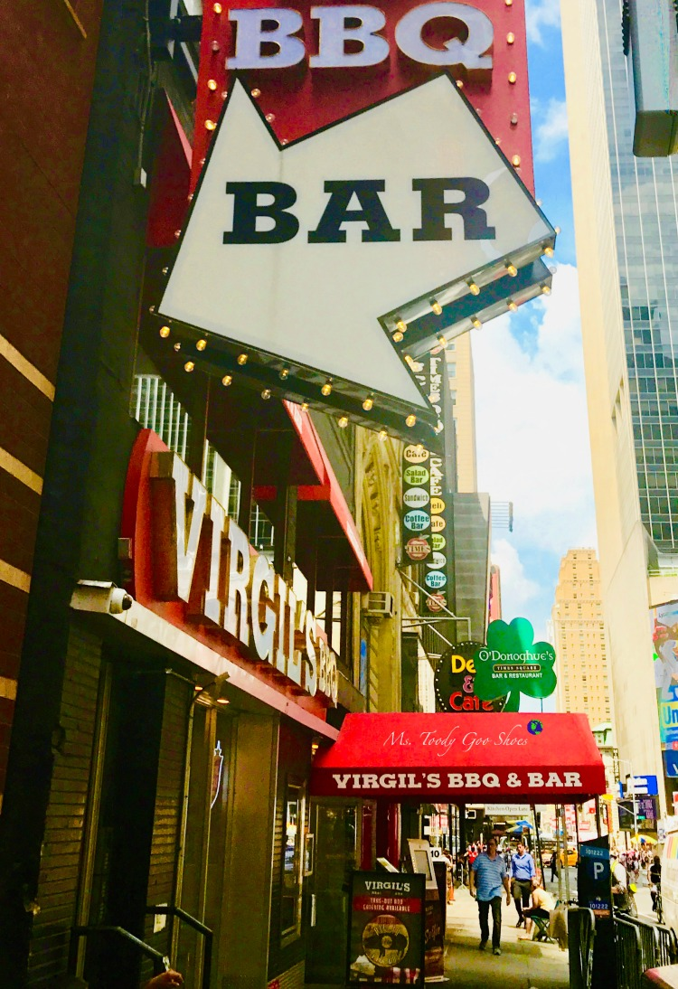 Virgil's BBQ- One of  50 Places To Eat Near Tiimes Square - From Cheap To Chic! | Ms. Toody Goo Shoes