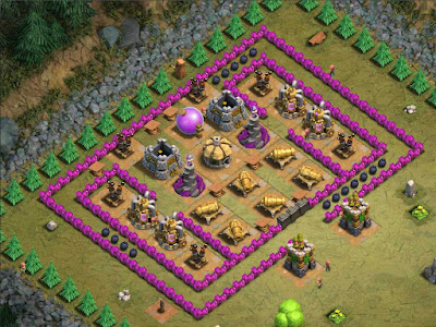 Goblin Base Clash of Clans Crystal Crust