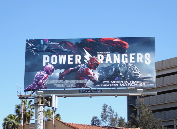 Pink Red Black Power Rangers billboard