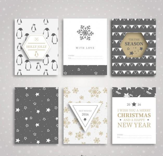 Colección de folletos de navidad y año nuevo Totalmente gratis [VECTOR]