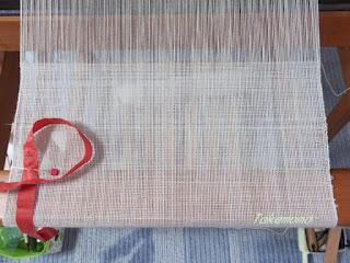 綿単糸・経2本取り、緯1本の平織り