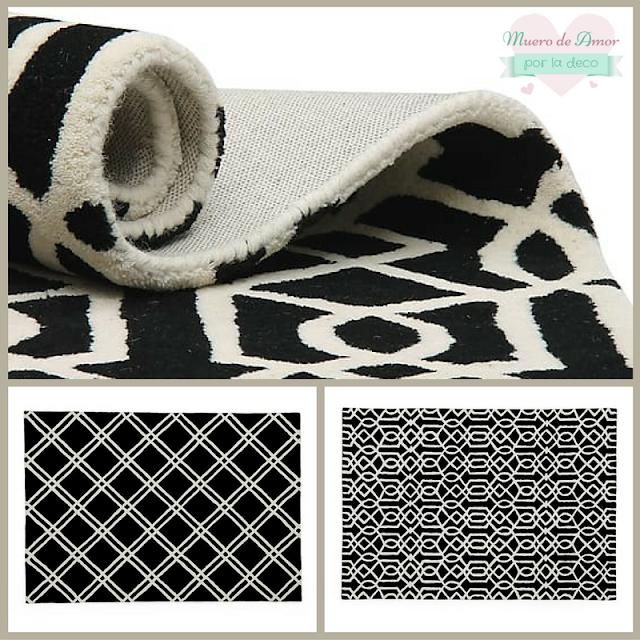 Decoraci n geom trica en blanco y negro i muero de amor - Westwing alfombras vinilo ...