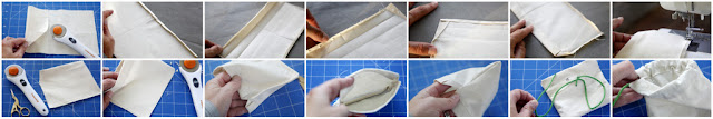 Step-by-step sewing a drawstring dog treat bag with french seams