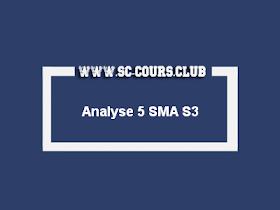 Cours ANALYSE 5 SMA S3 PDF