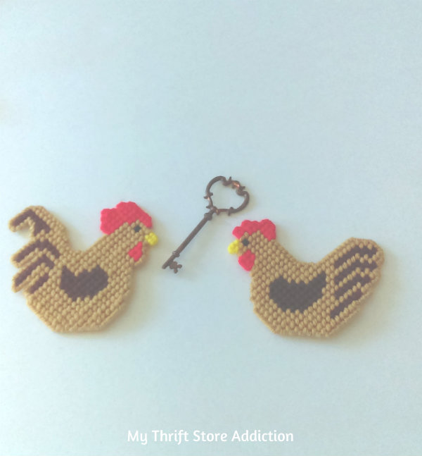 Rooster and hen magnets