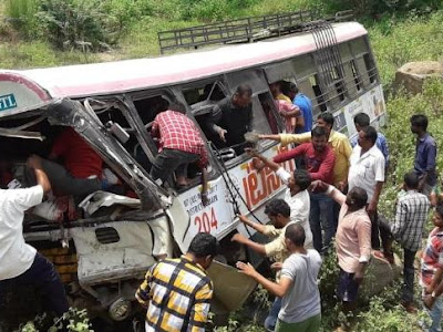 At Least 45 passengers feared dead after state bus falls into a valley at Telangana, India