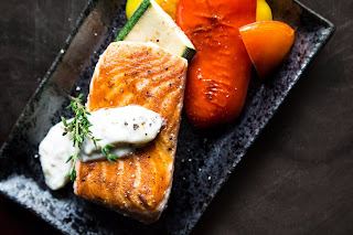 resep salmon saos cream yang gurih