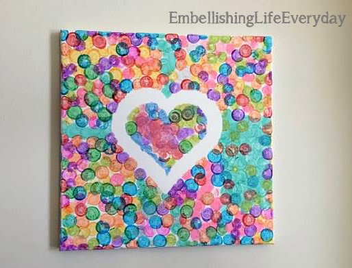 canvas craft ideas for kids embellishing canvas craft 5984