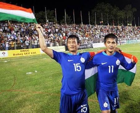 Bhaichung Bhutia and Sunil Chettri