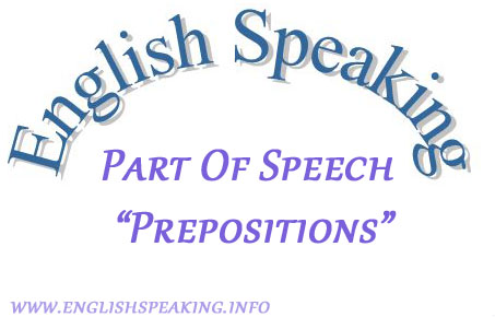 English speaking Part of Speech Proposition