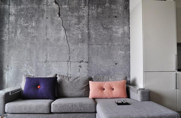 tapet betong med spricka fototapet vardagsrum grå vardagsrumstapet tapet som ser ut som betong