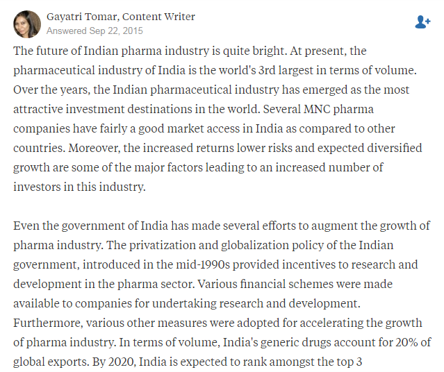 What is future of the Indian pharma industry