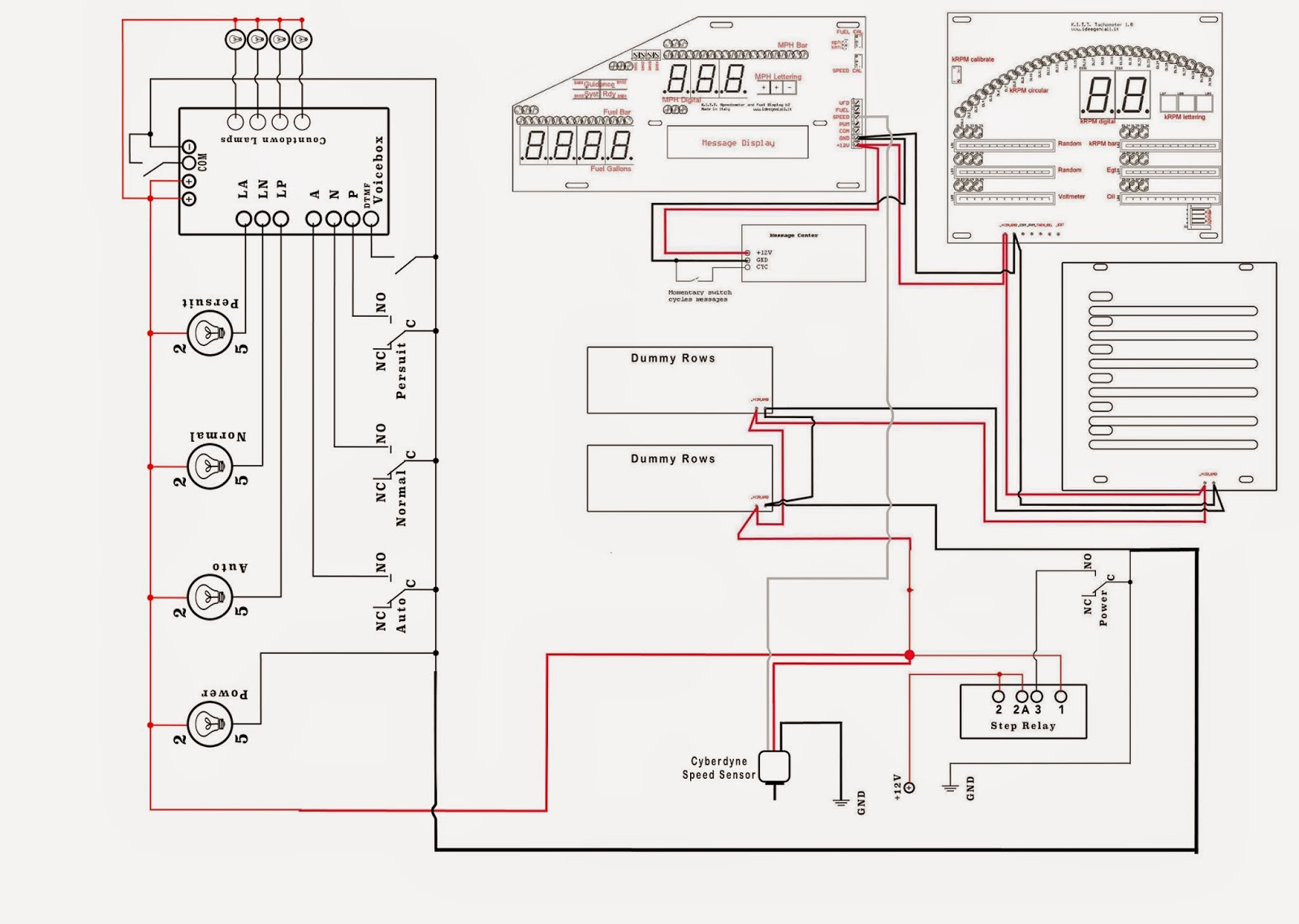 My Knight Rider 2000 Project Diagrams And Schematics Lighted Switch Wiring Diagram Dash Electronics