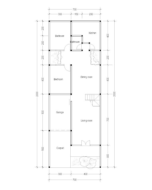 1st Floor Plan for Plan c-23