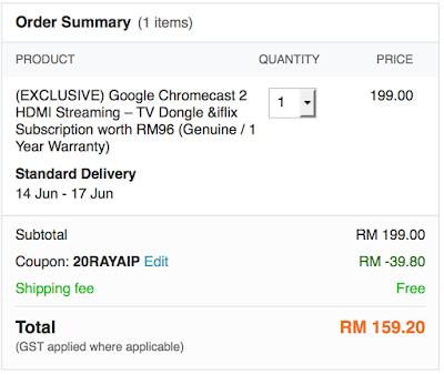 Lazada Malaysia Chromecast 2 Cheapest Price