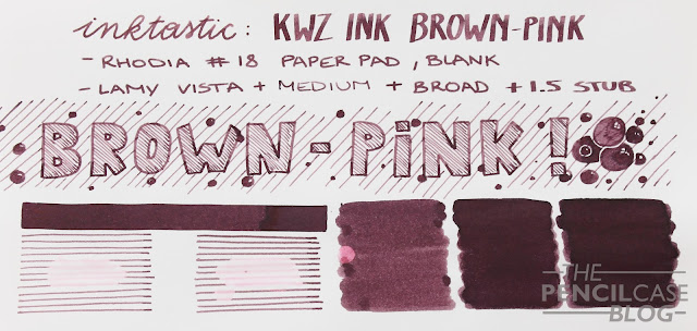 Inktastic KWZ brown-pink ink review