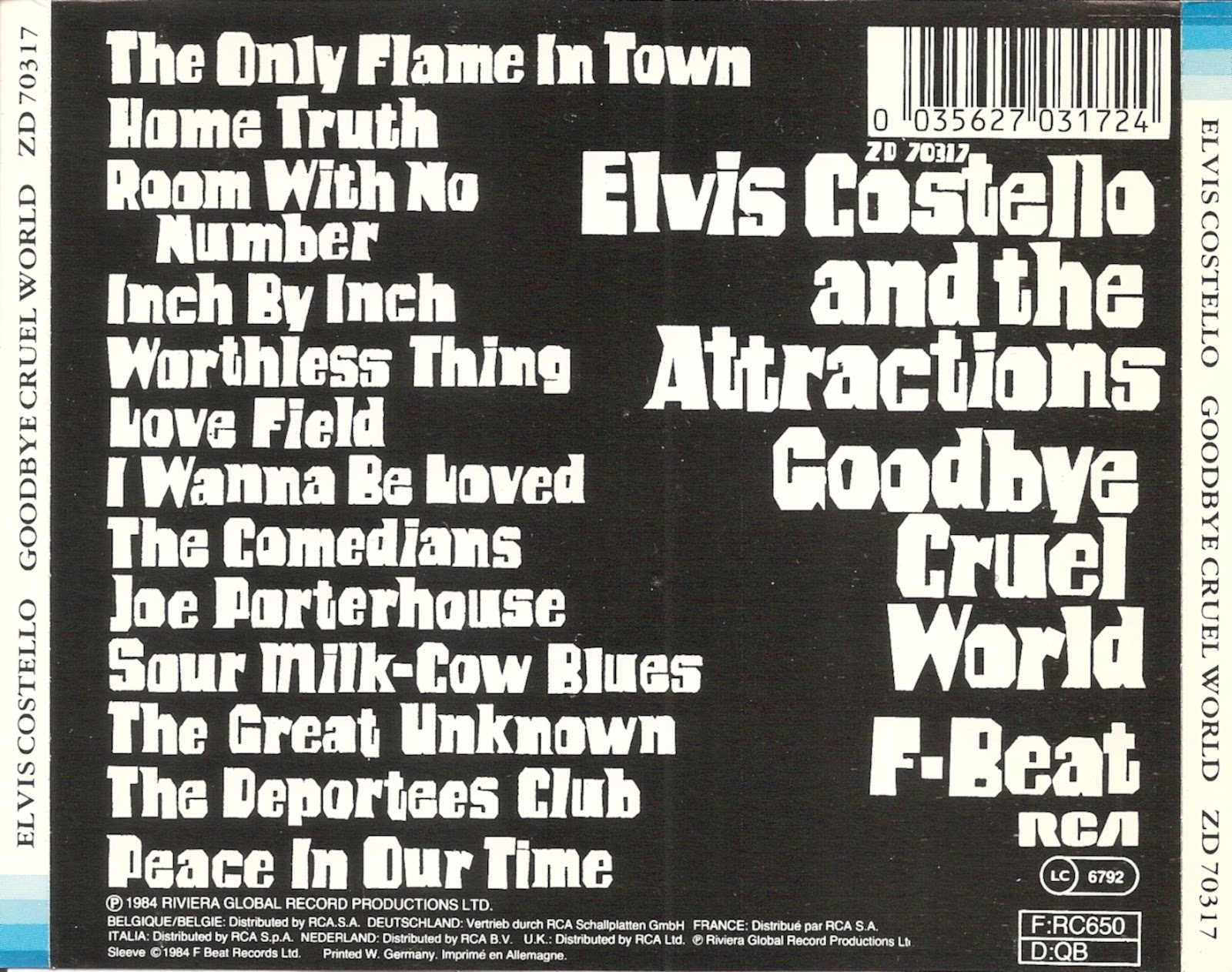 Goodbye Cruel World: The First Pressing CD Collection: Elvis Costello And The