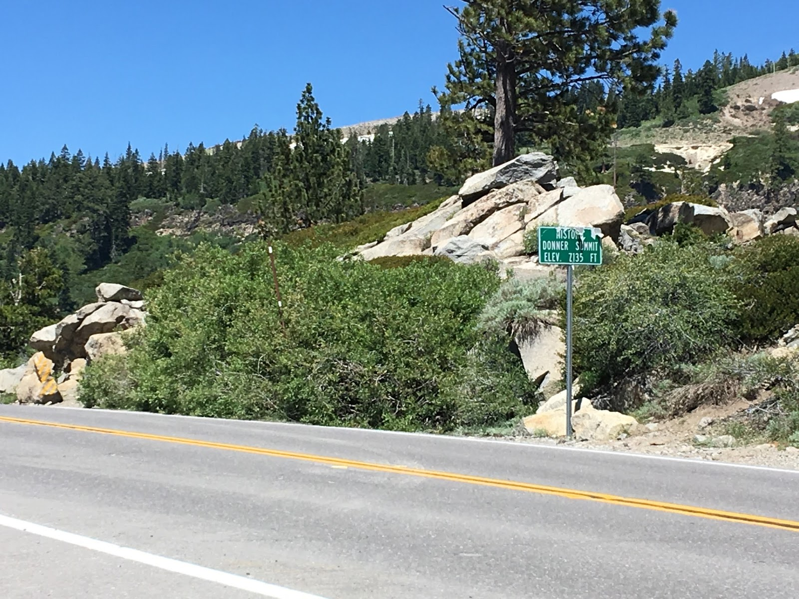 donner pass road passes the aforementioned donner pass ski area before reaching i 80