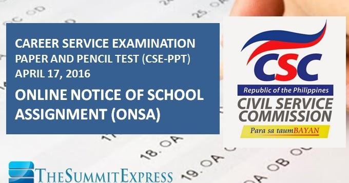 Civil Service Exam Philippines Room Assignment