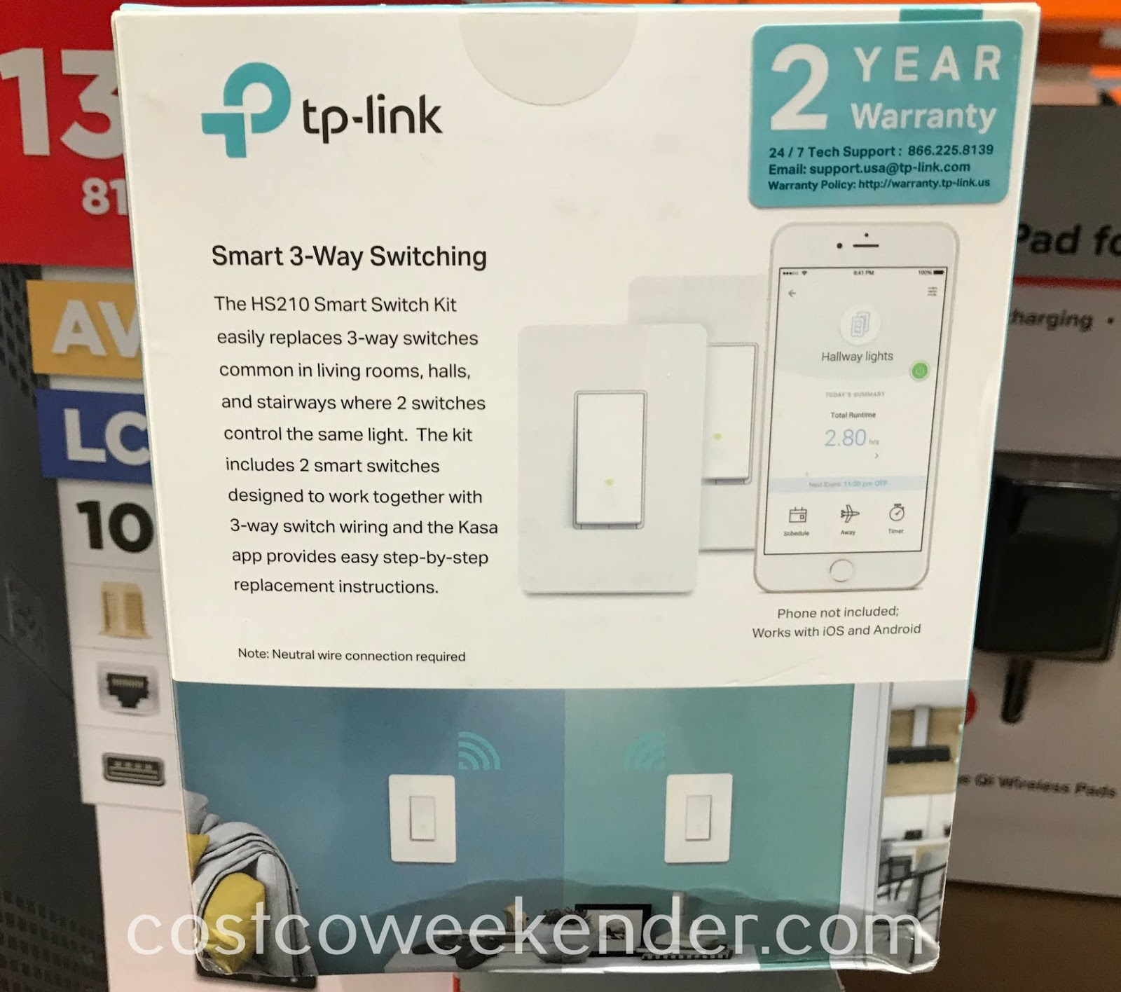 Costco 1326852 - Turn your home a smart home with TP-Link 3-Way Smart Wi-Fi Light Switches