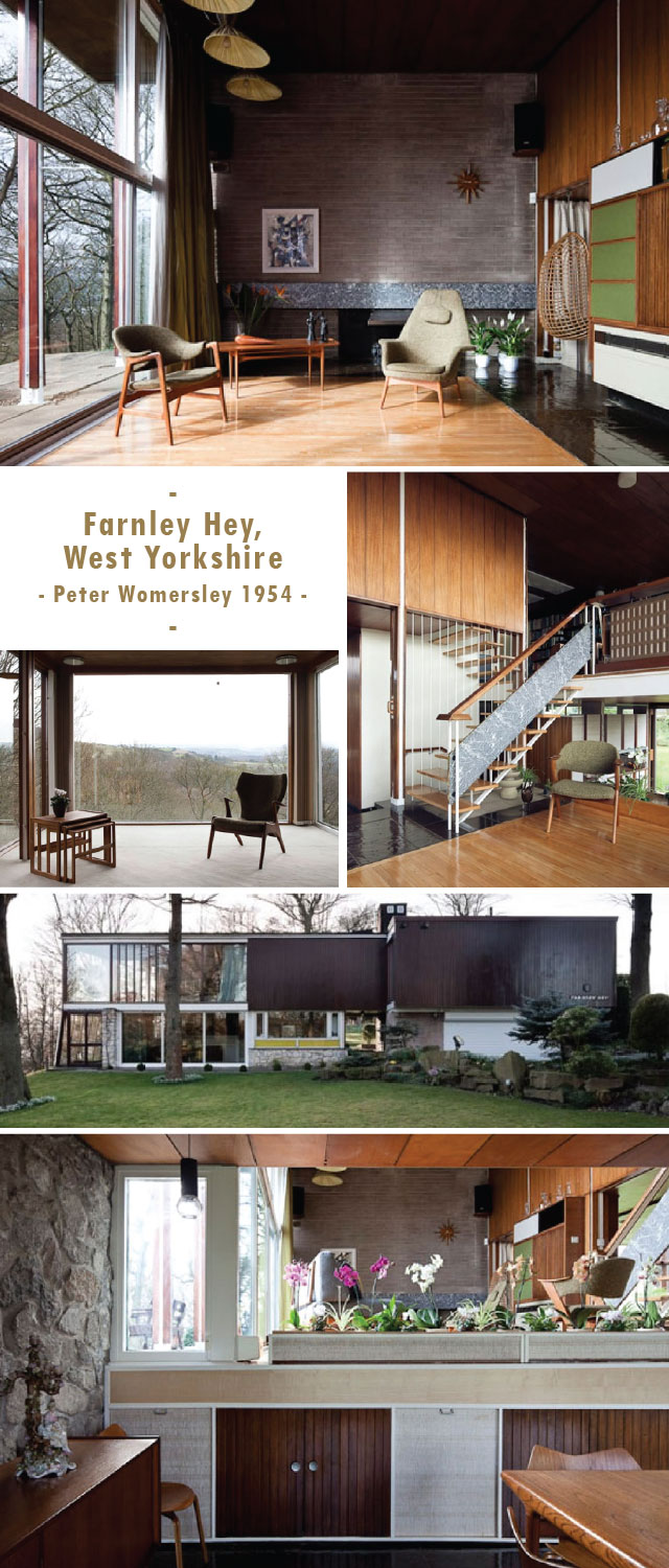 Farnley Hey - 1950's modern house built by Peter Womersley