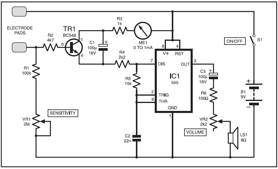 galvanic skin response meter circuit diagram