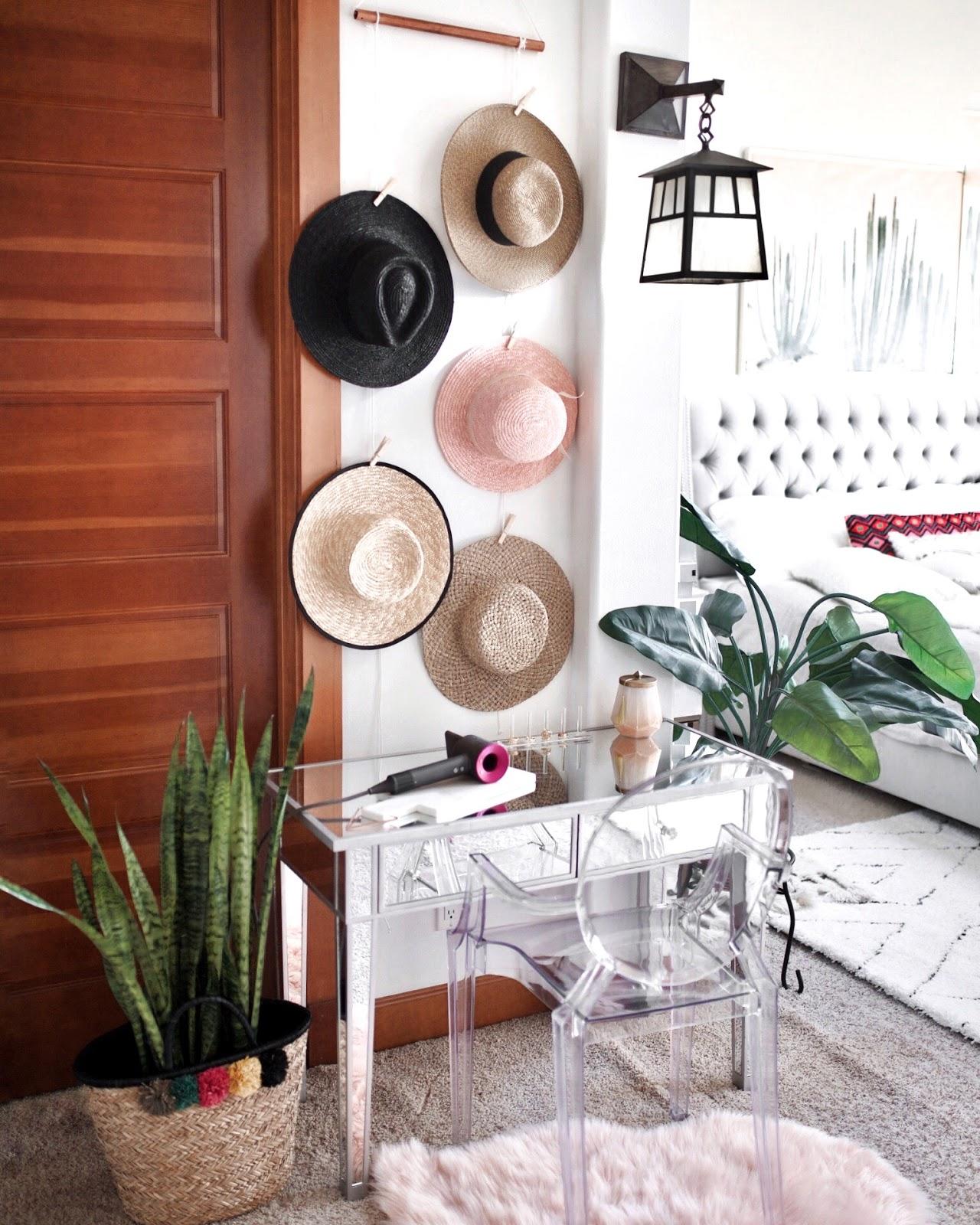 DIY hat wall display