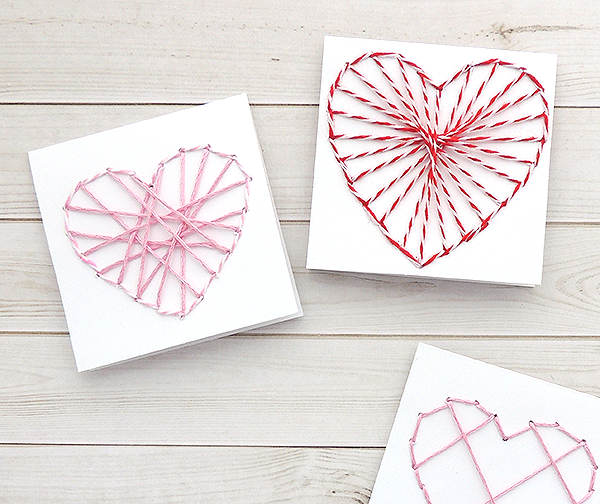 How to create Valentines Day String Art
