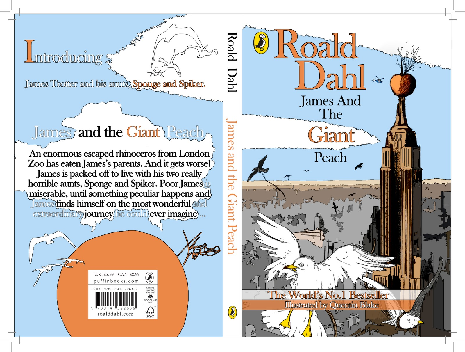 Thomas Wright Illustrator James Amp The Giant Peach Book Cover Finished