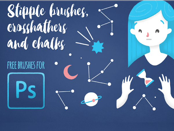 Download Free Brushes Stipple Hatch and Chalk