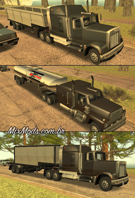 gta sa san mod truck trailers traffic carretas npcs