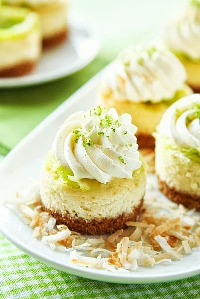 mini coconut lime cheescake with recipe link