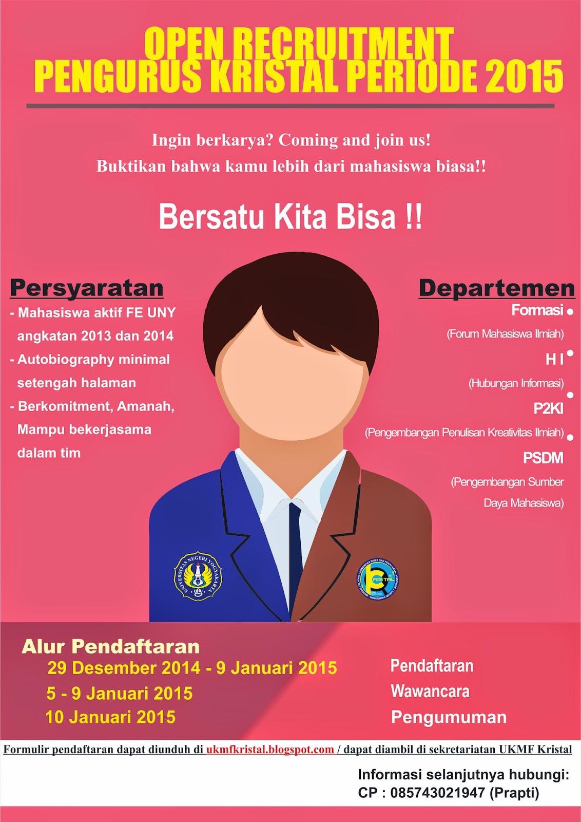 Open Recruitment Ukmf Kristal Fe Uny 2015 Ukmf Penelitian Kristal