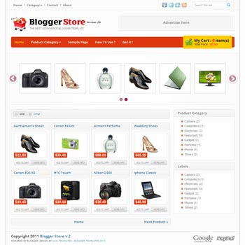 Blogger Store v2 - Best Ecommerce Blogger Template - blogger shopping site template
