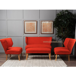 Set Kursi Sofa Tamu Minimalis 2 1 1 + Meja Seri Kenzo
