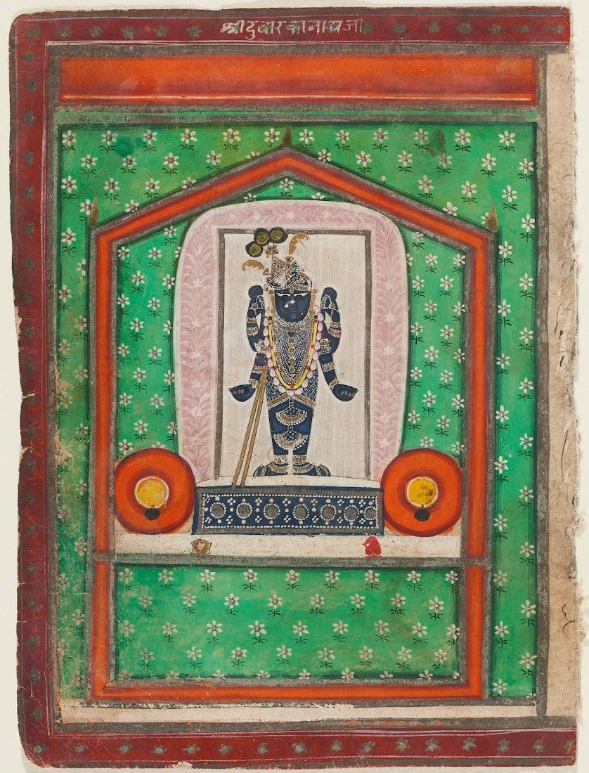God Srinathji Nathwara Painting