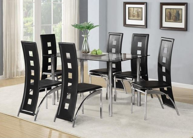 Glass Dining Room Table And Chair