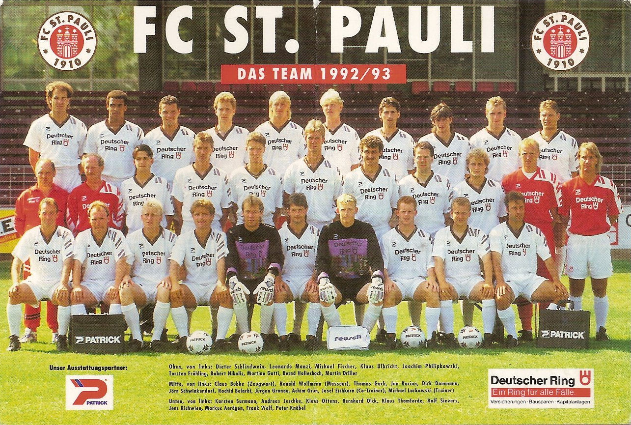 St Pauli Mannschaft
