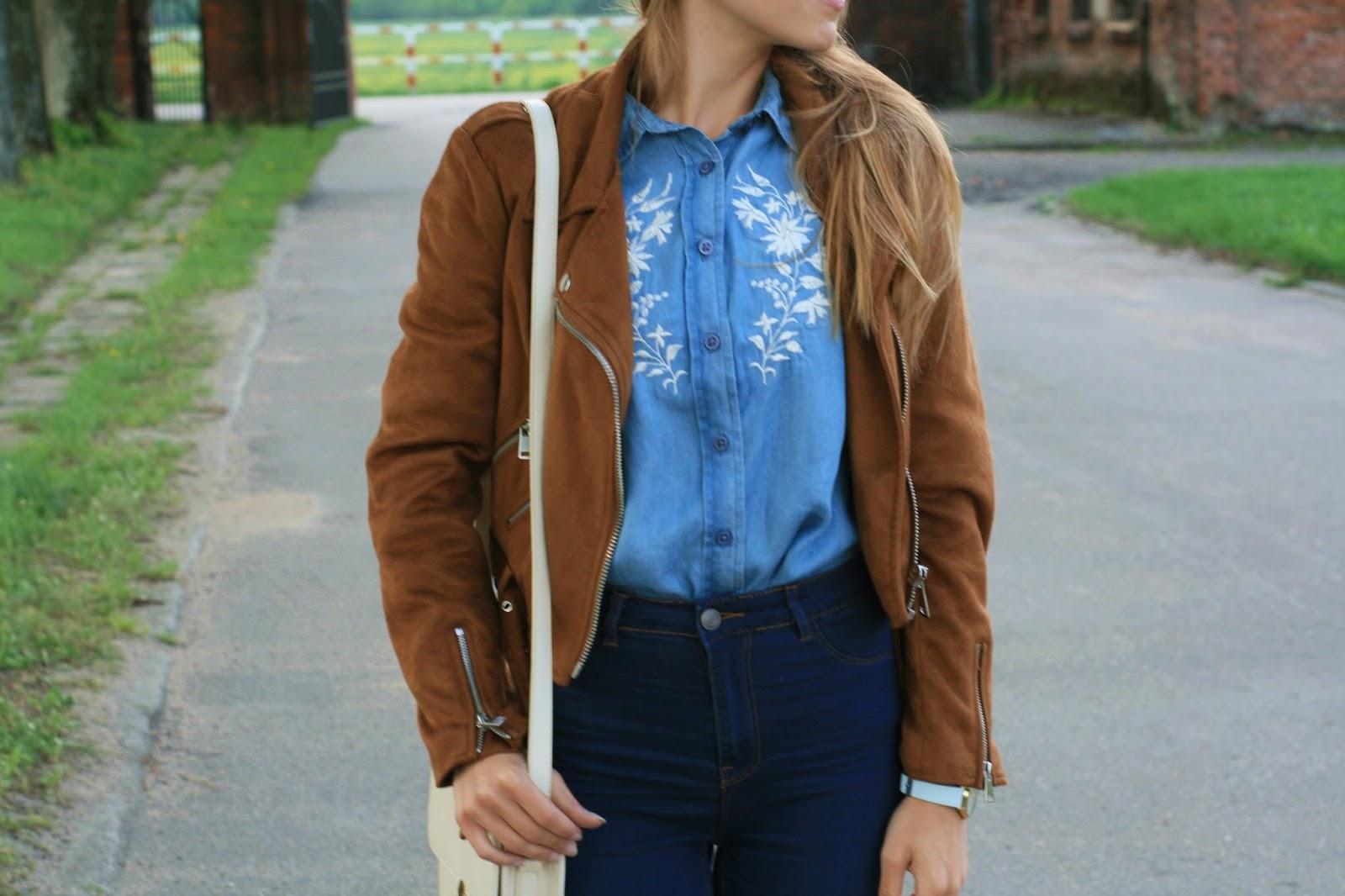 Denim total look | Jeansowa stylizacja z koszulą z PEPCO