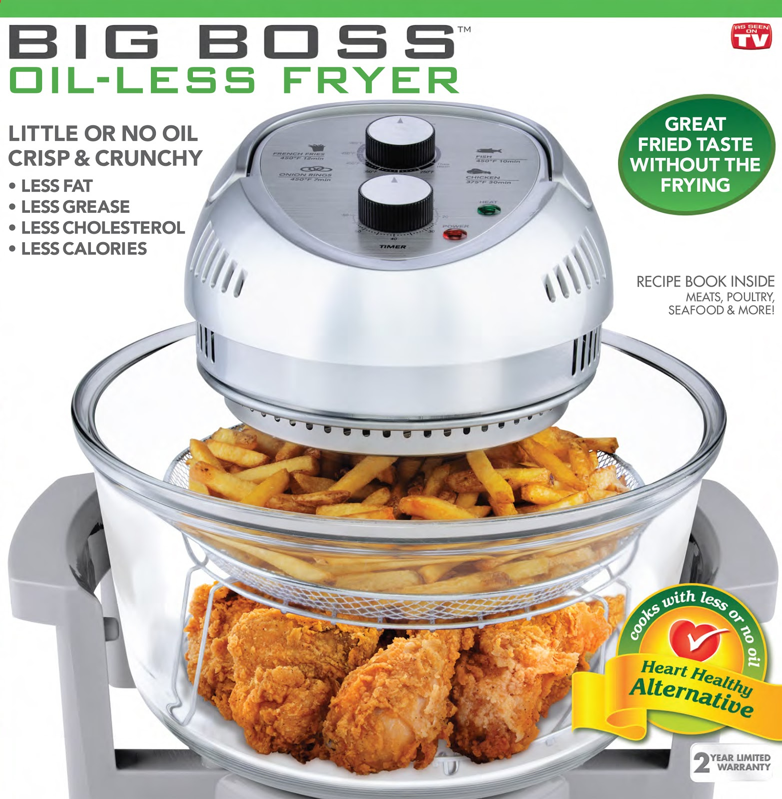 Miss Jackie's Views: Big Boss Oil Less Deep Fryer Review