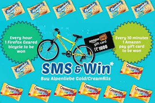 Alpenliebe Contest - Win Amazon Gift Card Rs.1000/- and Firefox Geared Bicycle