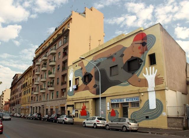 Уличный художник из Италии. Агостино Якурчи (Agostino Iacurci) 39